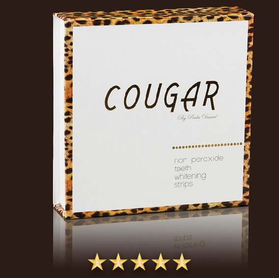 Bieliace pásiky na zuby Cougar DeLuxe Pro-Whitening