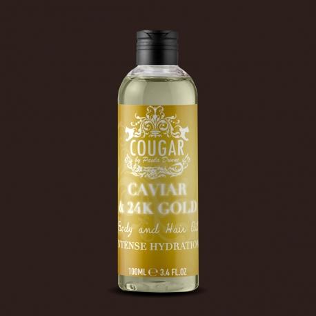Olej na vlasy a telo s extraktom z kaviáru a 24K zlata