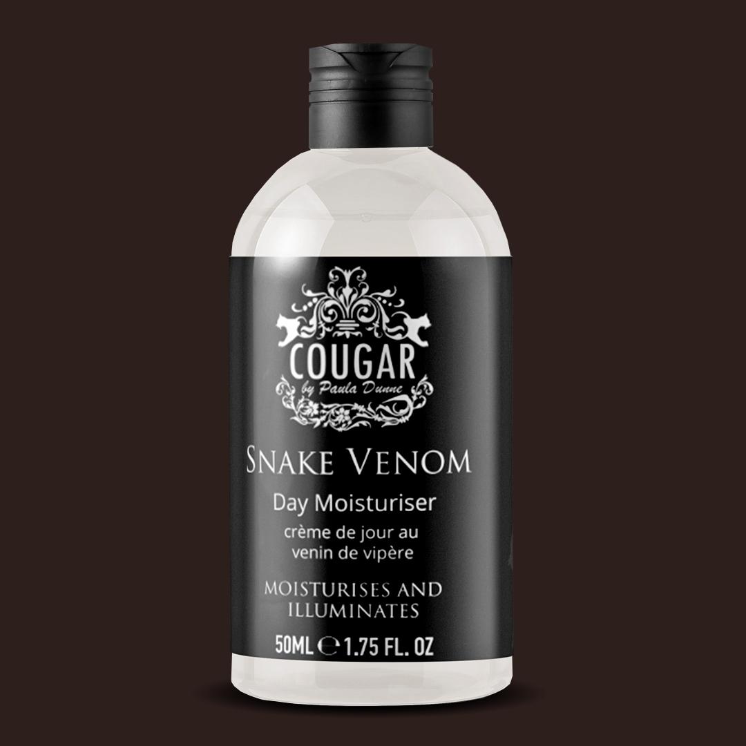 Denný krém Cougar s hadím jedom proti vráskam