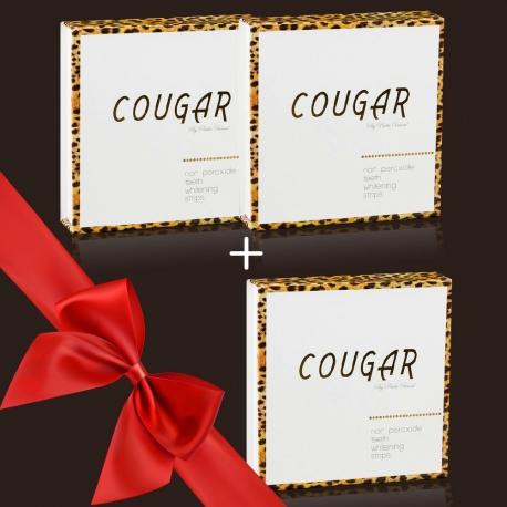 Tretie balenie zdarma - bieliace pásiky na zuby Cougar DeLuxe