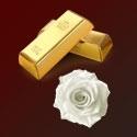 24k zlato a kmeňové bunky z bielej ruže